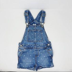Gap Heart Polka Dot Short Overalls Girls Size 4